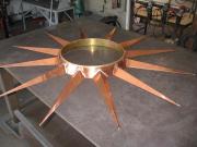 52 dia. copper and brass starburst