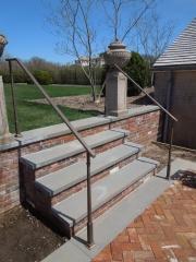 bronze posts with flat bar cap