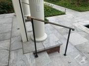 steel frame with bronze cap