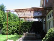 powder coated steel frame w bamboo top
