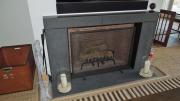firebox surround with stone inserts