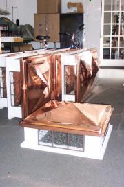 illuminated copper post tops