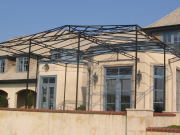 powder coated stainless steel awning structure