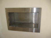 stainless steel facia trim for gas fired wall insert