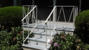 abstract porch railing in steel