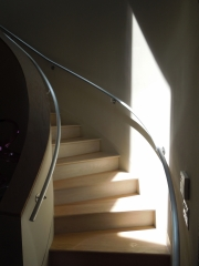 brushed and lacquered aluminum handrails