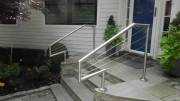 customized front entrance cable railing