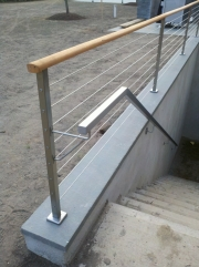 exterior stainless steel with cables