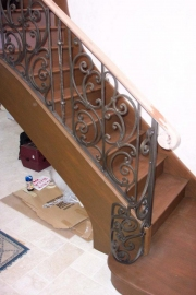 forgings on curved staircase