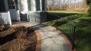 handicap railing in powder coated mild steel