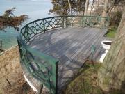 powder coated aluminum deck railing