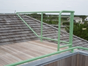 rooftop deck guardrail in stainless with cables